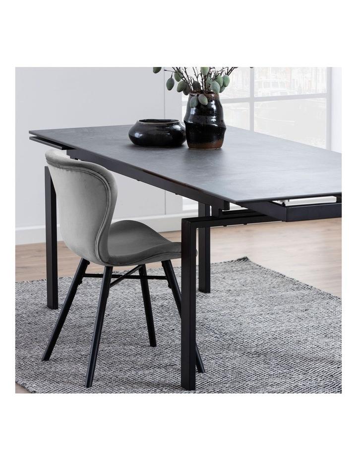 Living 160/240cm Extendable Porcelain Dining Table Stone Black image 2