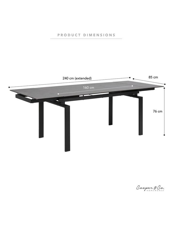 Living 160/240cm Extendable Porcelain Dining Table Stone Black image 3
