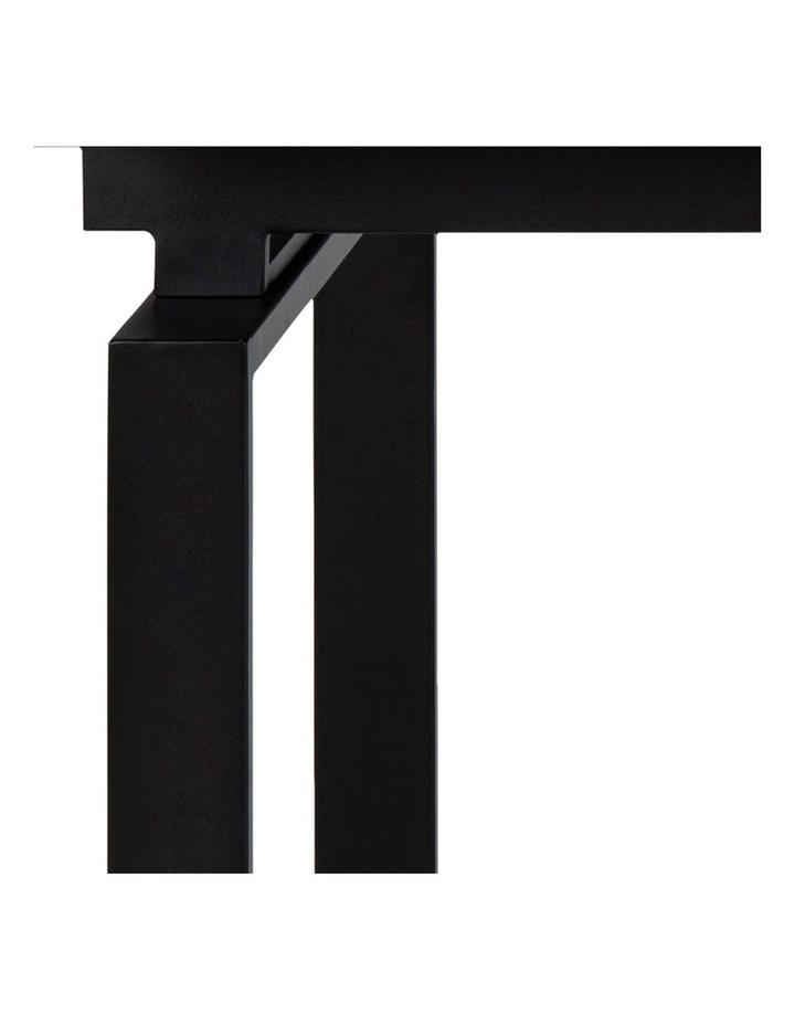 Living 160/240cm Extendable Porcelain Dining Table Stone Black image 4