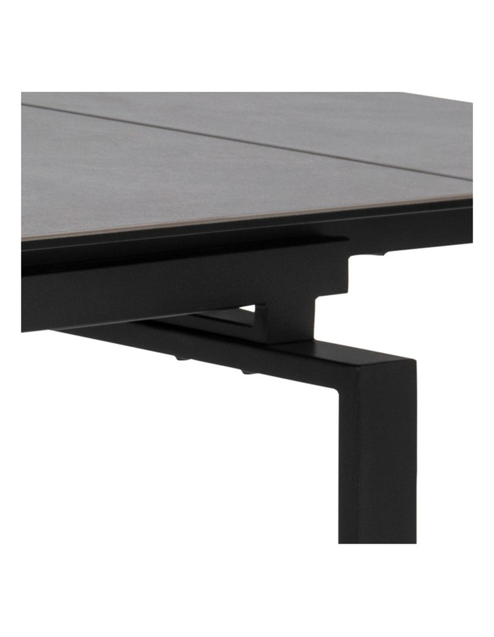 Living 160/240cm Extendable Porcelain Dining Table Stone Black image 5