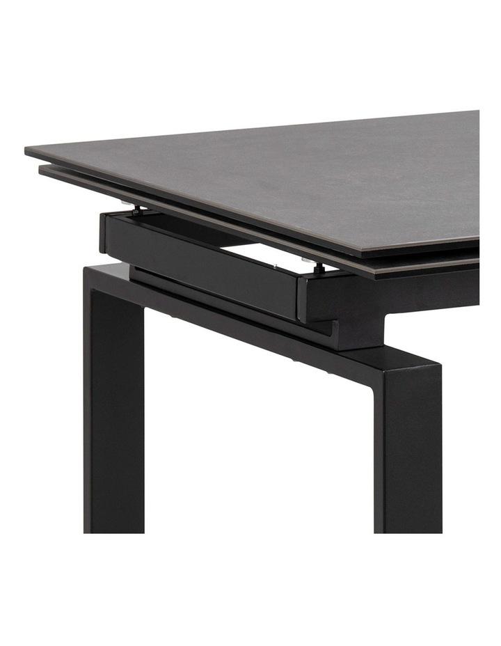 Living 160/240cm Extendable Porcelain Dining Table Stone Black image 6