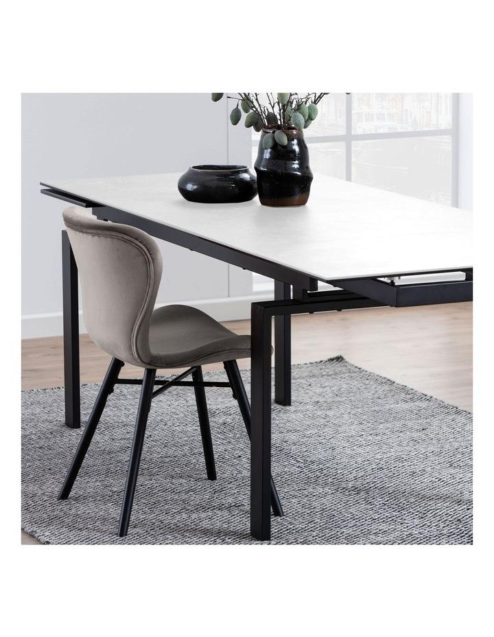 Living 160/240cm Extendable Porcelain Dining Table Stone White image 2