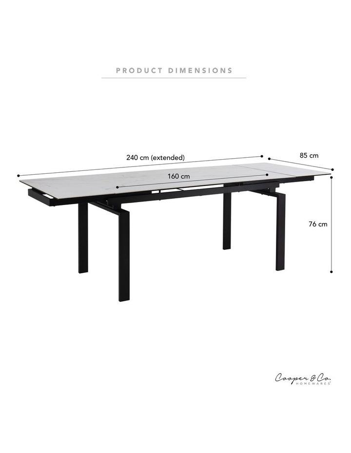 Living 160/240cm Extendable Porcelain Dining Table Stone White image 3
