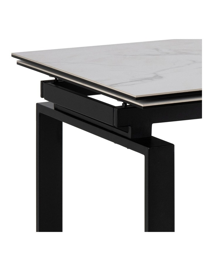 Living 160/240cm Extendable Porcelain Dining Table Stone White image 4