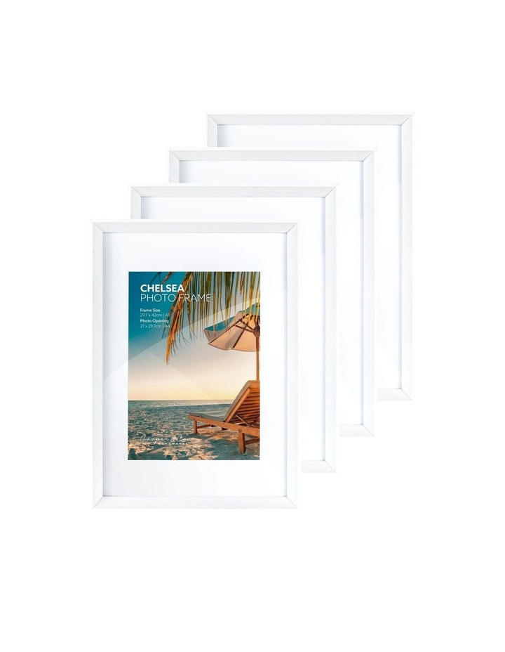 Premium 4 Pack Gallery Photo Frame Set A3 Mat To A4 White image 1
