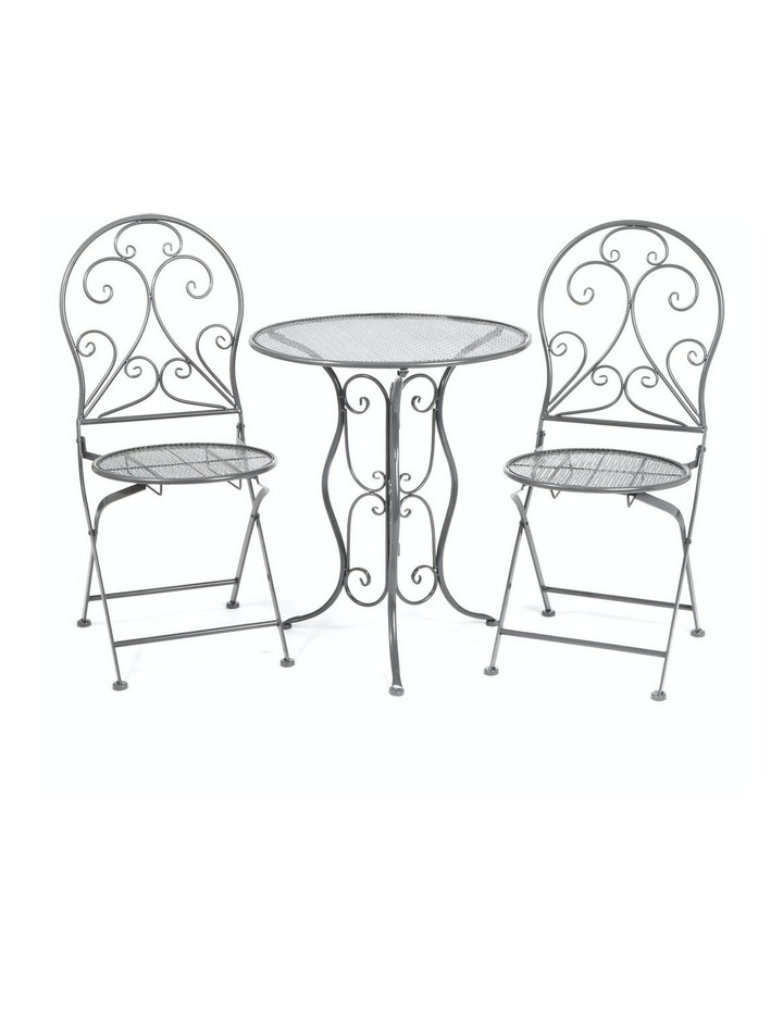 Cooper & Co. Hola 3 Piece Outdoor Dining Setting Grey image 1