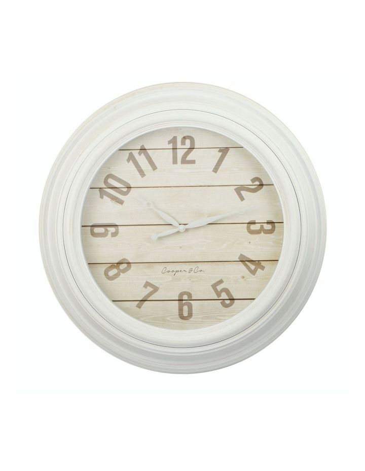 Cooper & Co. 60cm White Jumbo Quartz Wall Clock image 1