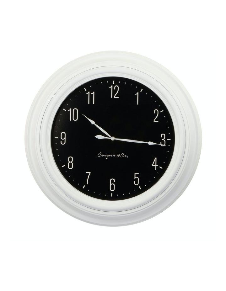 Cooper & Co. 60cm White & Black Jumbo Quartz Wall Clock image 1