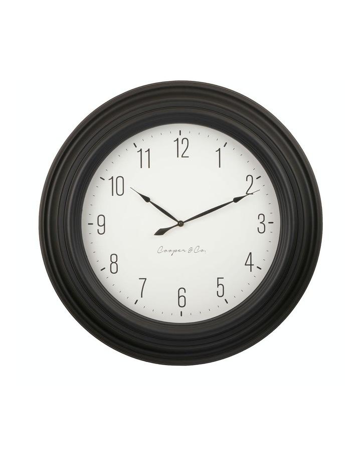 Cooper & Co. 60cm Black & White Jumbo Quartz Wall Clock image 1