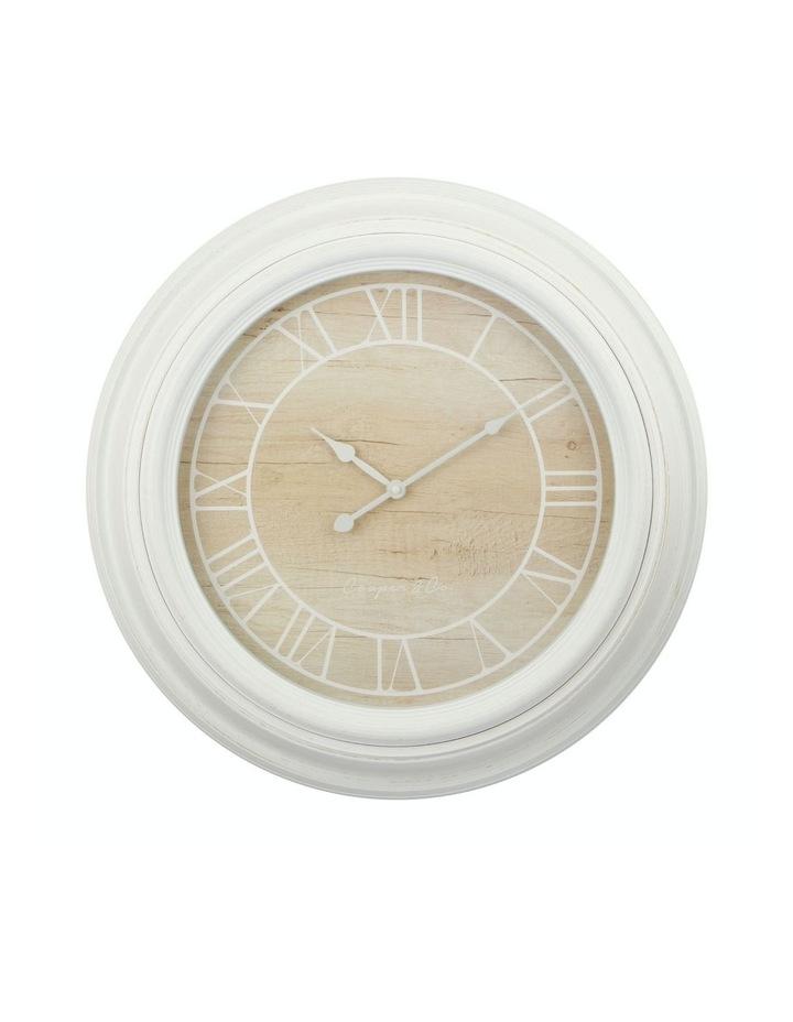 Cooper & Co. 60cm White & Natural Jumbo Quartz Wall Clock image 1