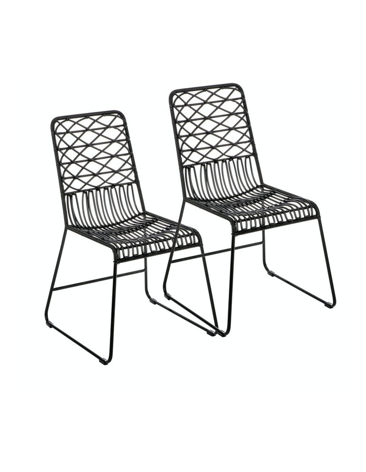 Lydia Dining Chair Set Of 2 Black image 1