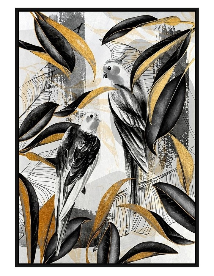 Ready To Hang Fancy Feathers Wall Art With Foil 140x100cm image 1