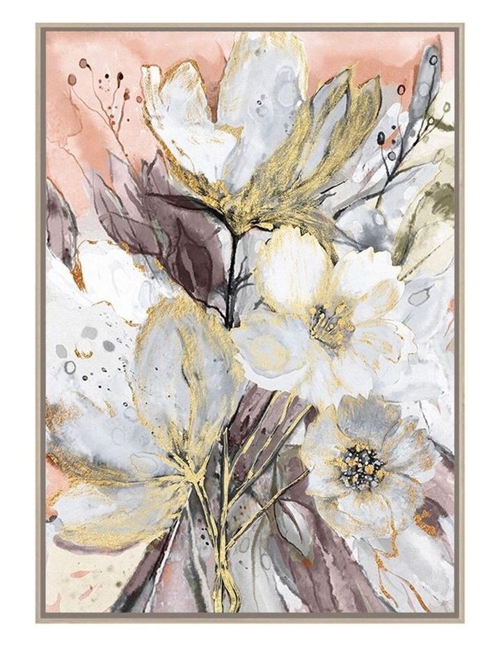 Ready To Hang Spring Flowers Wall Art With Gel 140x100cm image 1