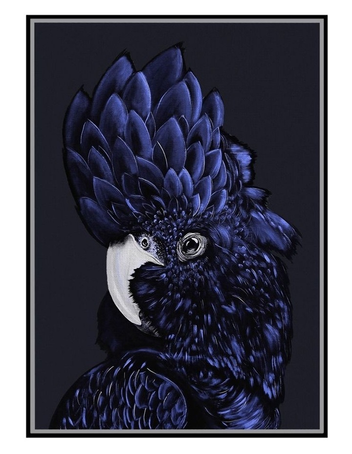 Ready To Hang Blue Cockatoo Wall Art 140x100cm image 1