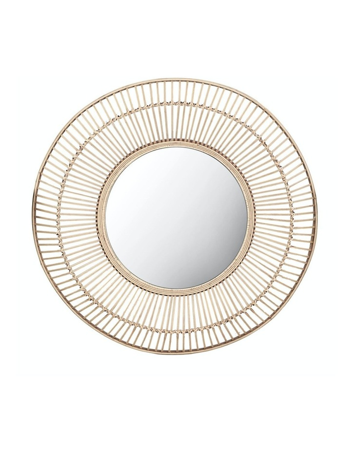 Cebu 80cm Round Rattan Mirror image 1