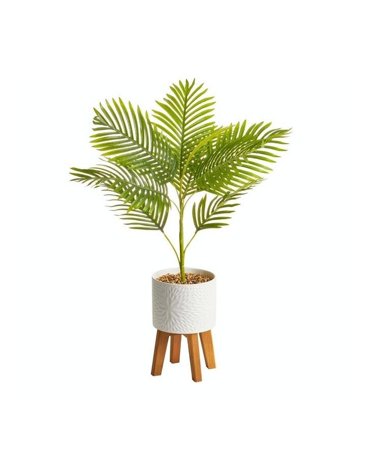 Artificial Palm Plant In Ceramic Pot 85c image 1