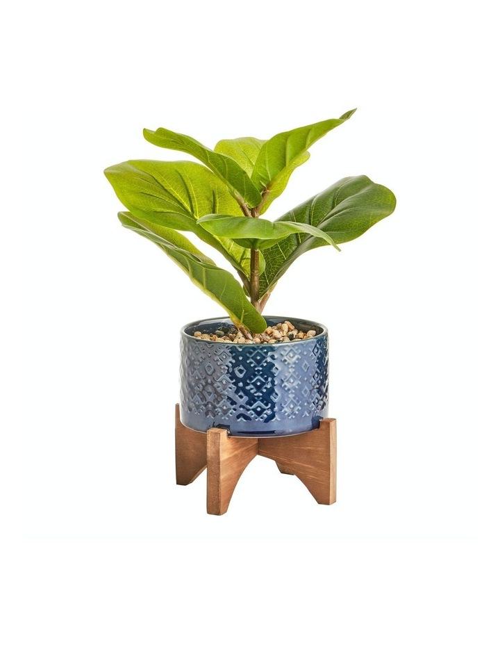 Artificial Taro Plant In Ceramic Pot 35cm image 1