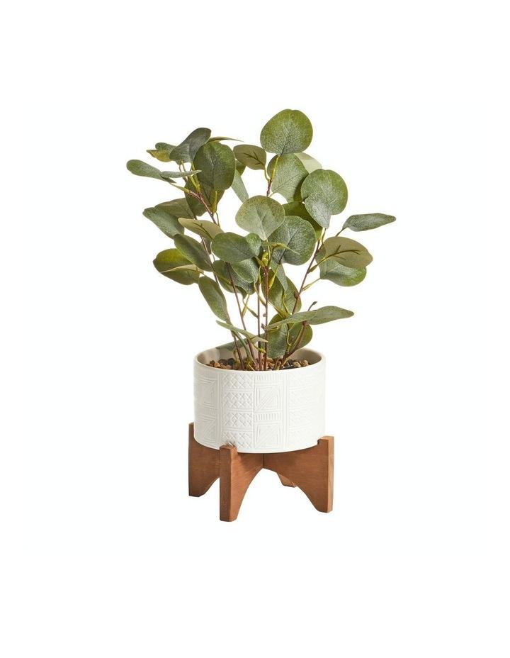 Artificial Money Plant In Ceramic Pot 40cm image 1