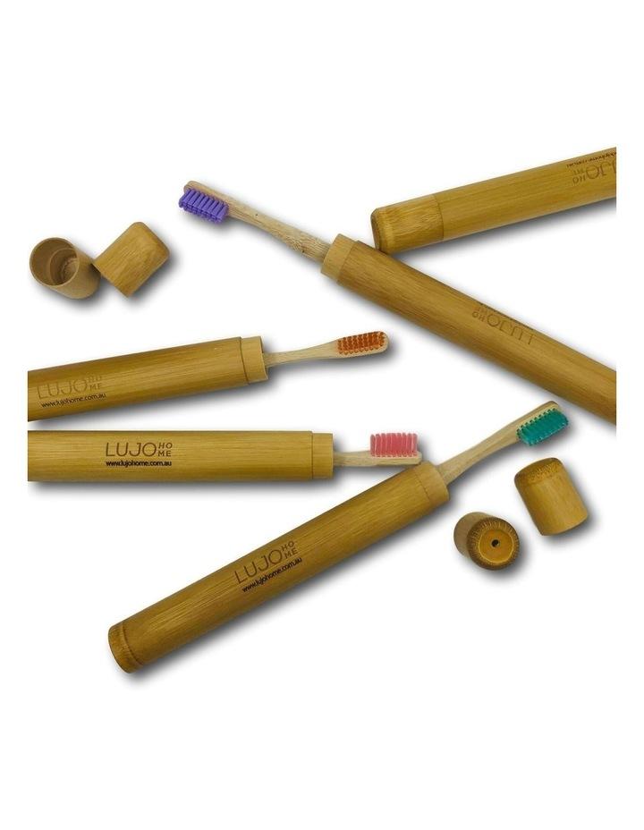 Bamboo Toothbrush Holder image 2
