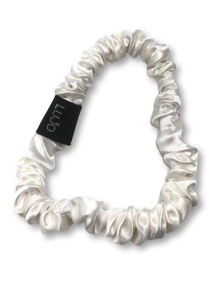Silk Scrunchie - White image 1