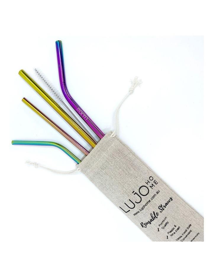 Metal straws mixed set image 5