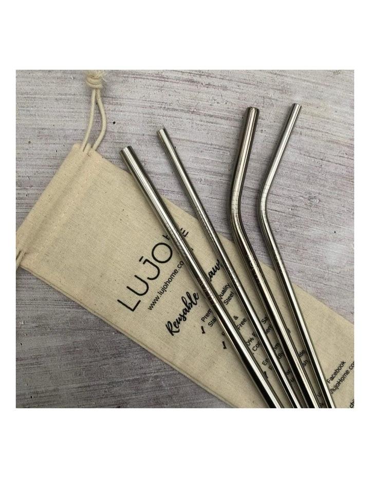 Metal straws mixed set image 6