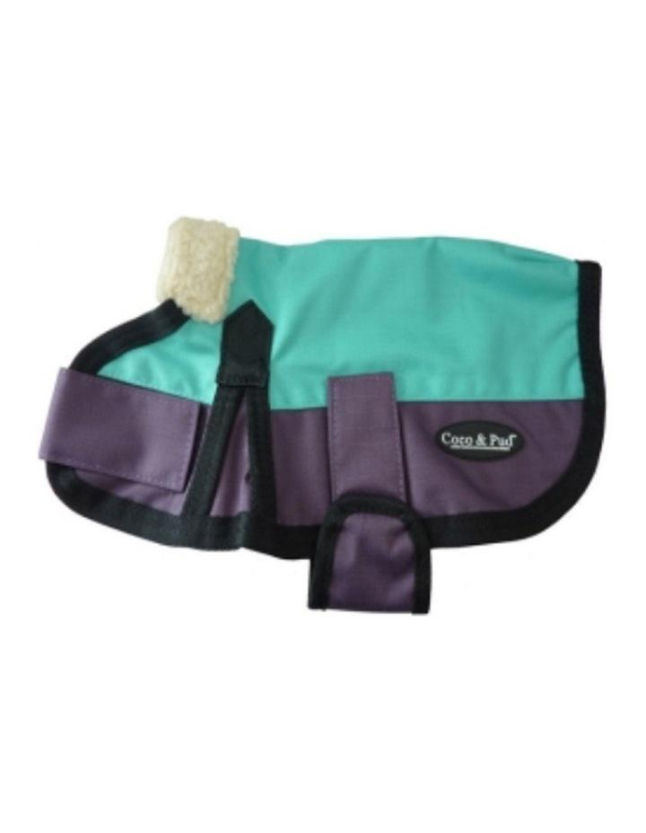 Waterproof Dog Coat 3009 LARGE - Teal & Purple image 1