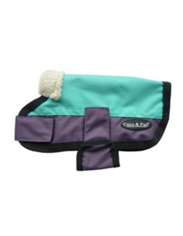 Waterproof Dog Coat 3009 - Teal & Chocolate XXS image 3