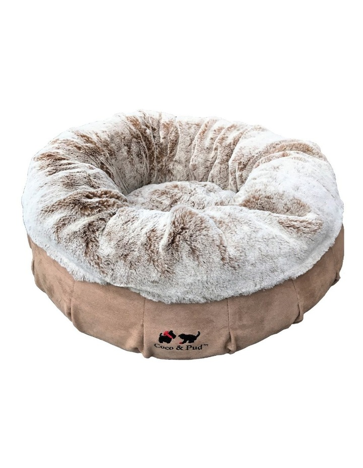 Coco Luxe Pet Bed  - Cafe Latte image 1