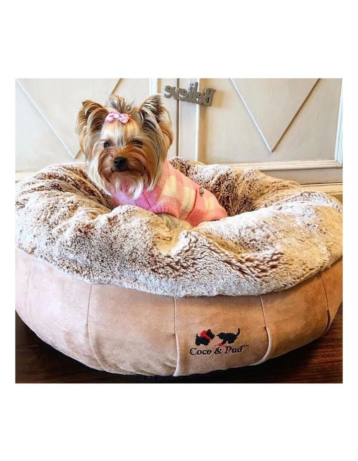 Coco Luxe Pet Bed  - Cafe Latte image 2