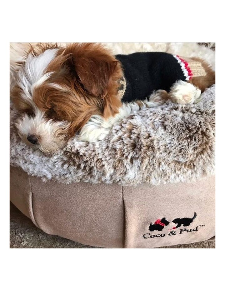 Coco Luxe Pet Bed  - Cafe Latte image 3
