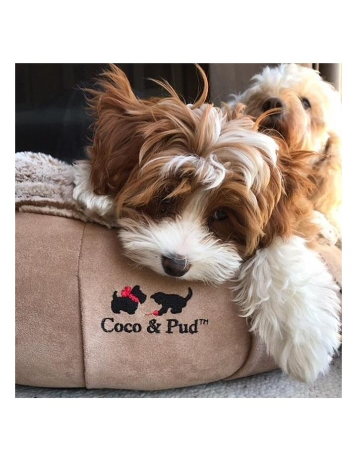 Coco Luxe Pet Bed  - Cafe Latte image 4