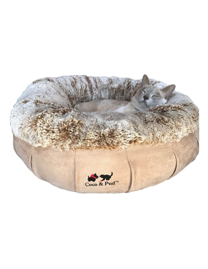 Coco Luxe Pet Bed  - Cafe Latte image 5