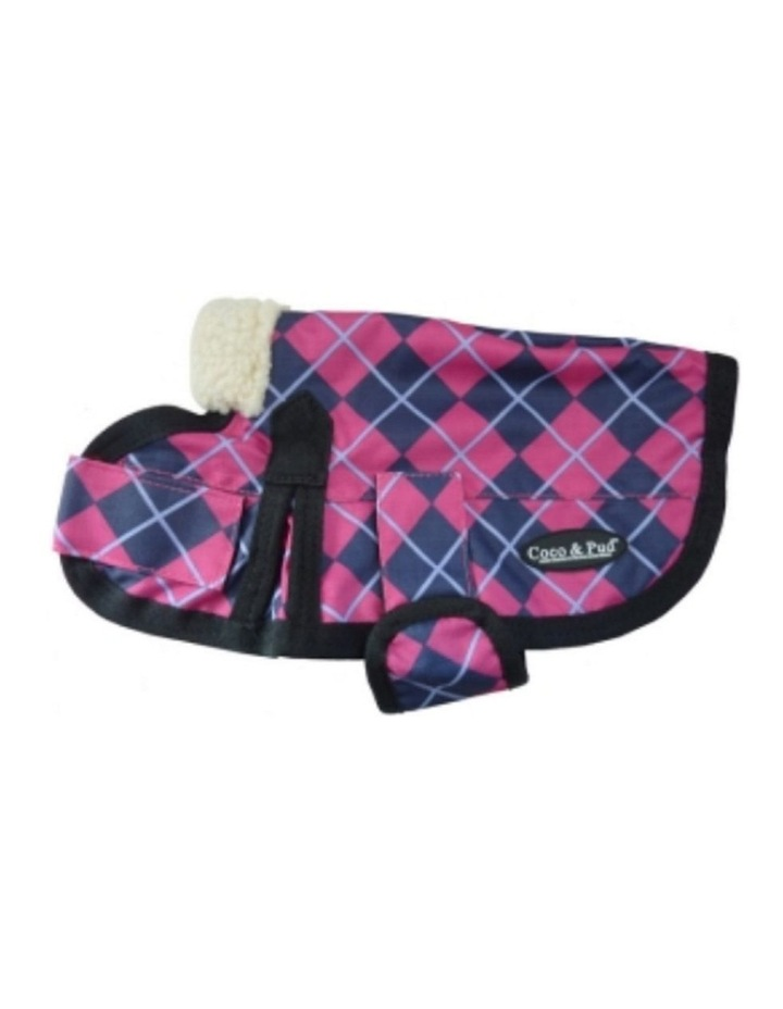 Waterproof Dog Coat 3009 - Pink Check LARGE image 1