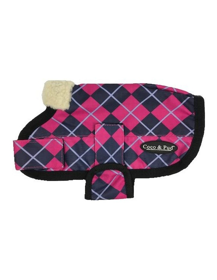Waterproof Dog Coat 3009 - Pink Check LARGE image 2