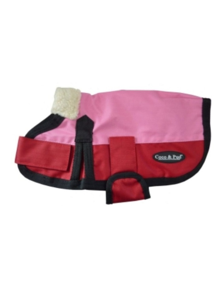 Waterproof Dog Coat 3009 MEDIUM - Pink & Red image 1