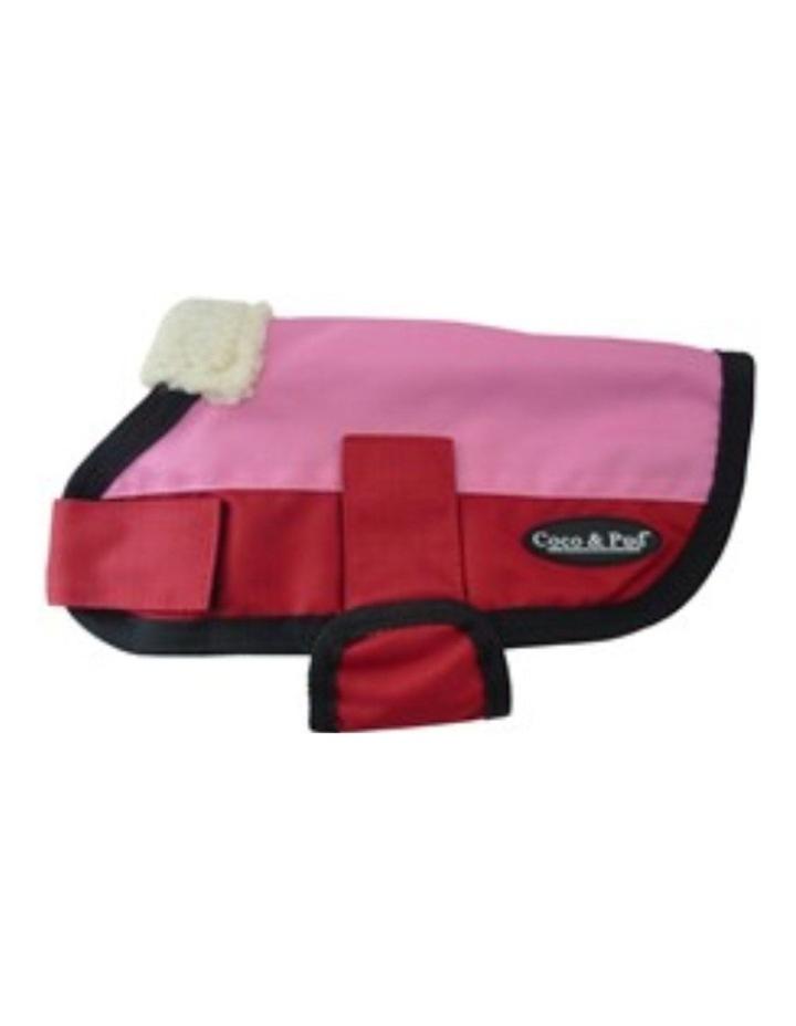 Waterproof Dog Coat 3009 MEDIUM - Pink & Red image 2