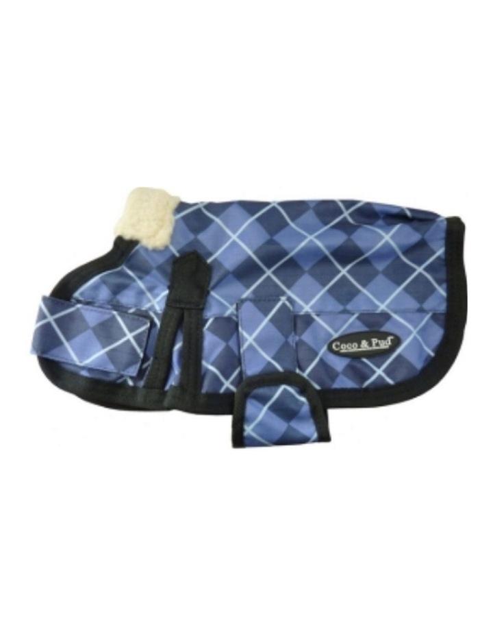 Waterproof Dog Coat 3009 - Blue Check XXL image 1