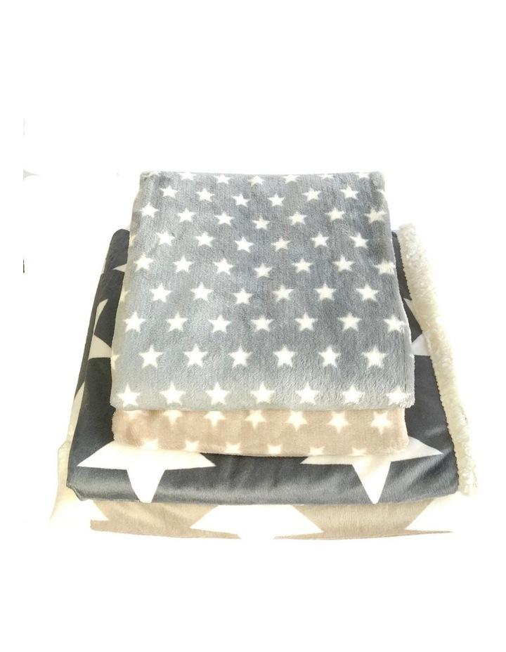 Hamptons Minky Blanket - Grey image 2