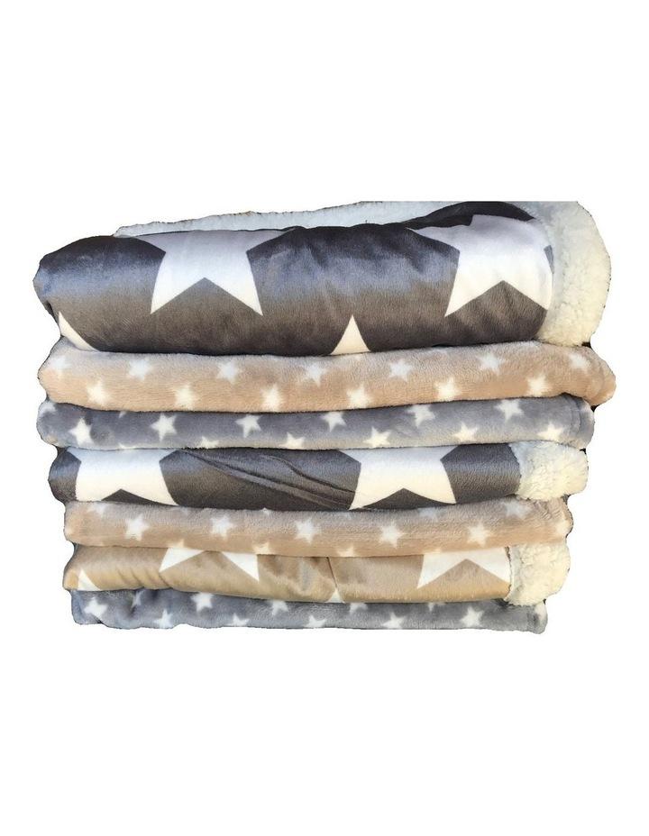 Hamptons Minky Blanket - Grey image 5