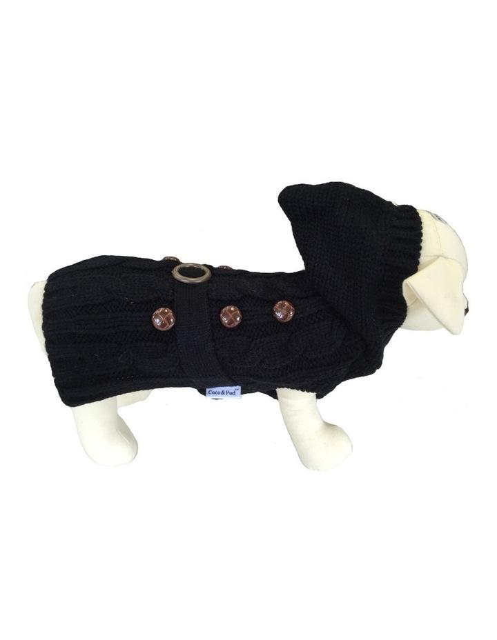 Paris Dog Sweater - Black SMALL image 1