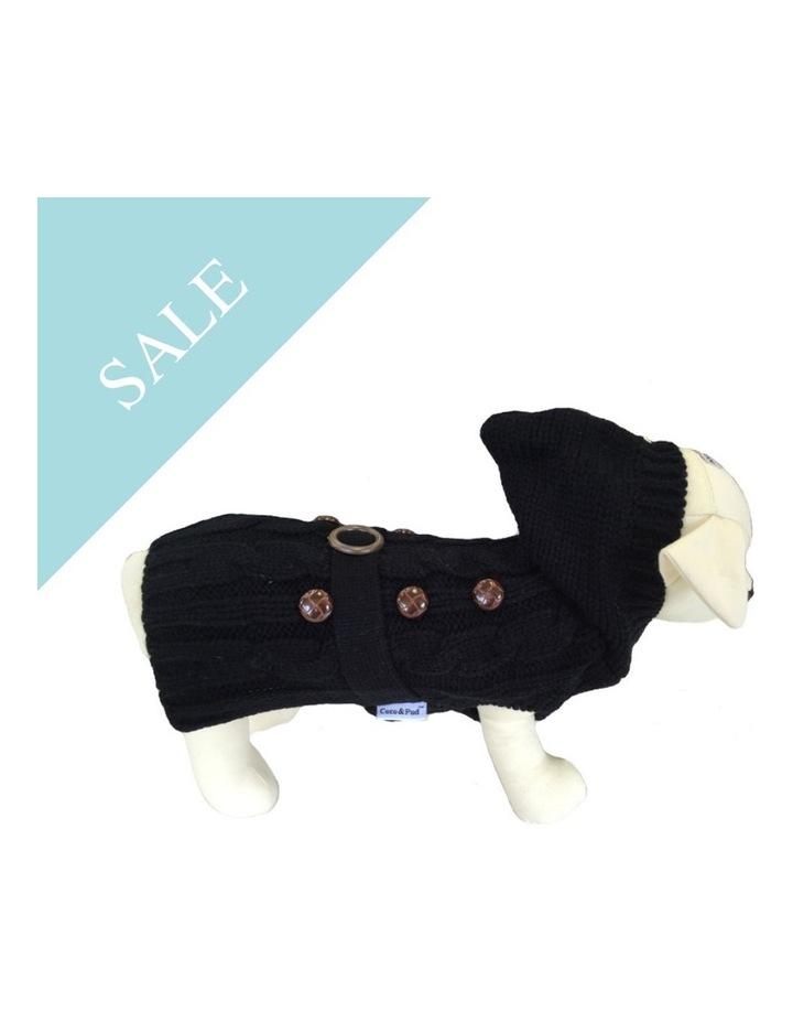 Paris Dog Sweater - Black SMALL image 2