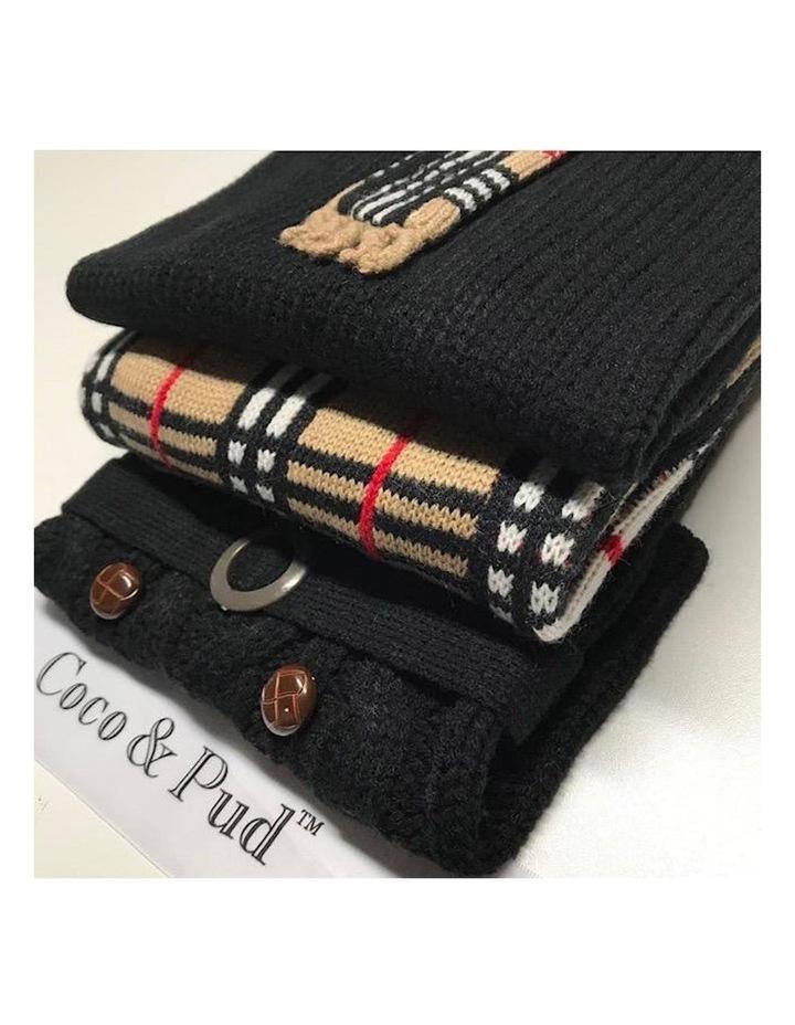 Paris Dog Sweater - Black SMALL image 5