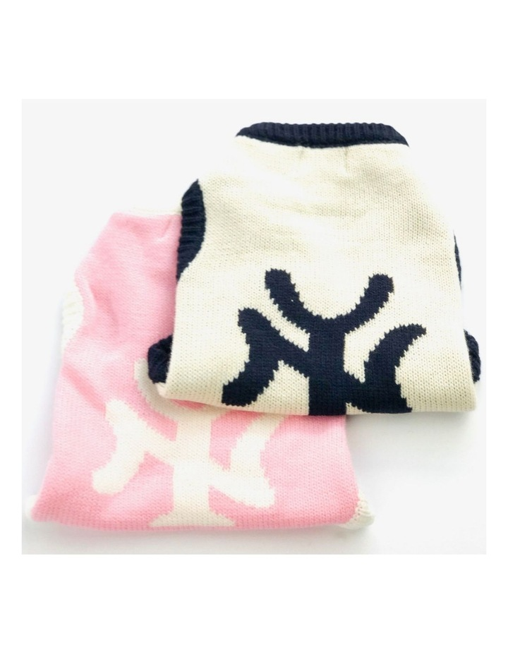 New York Dog Sweater - Pink SMALL image 3