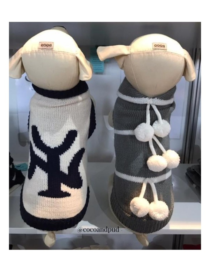 New York Dog Sweater - Cream/ Navy XL image 7