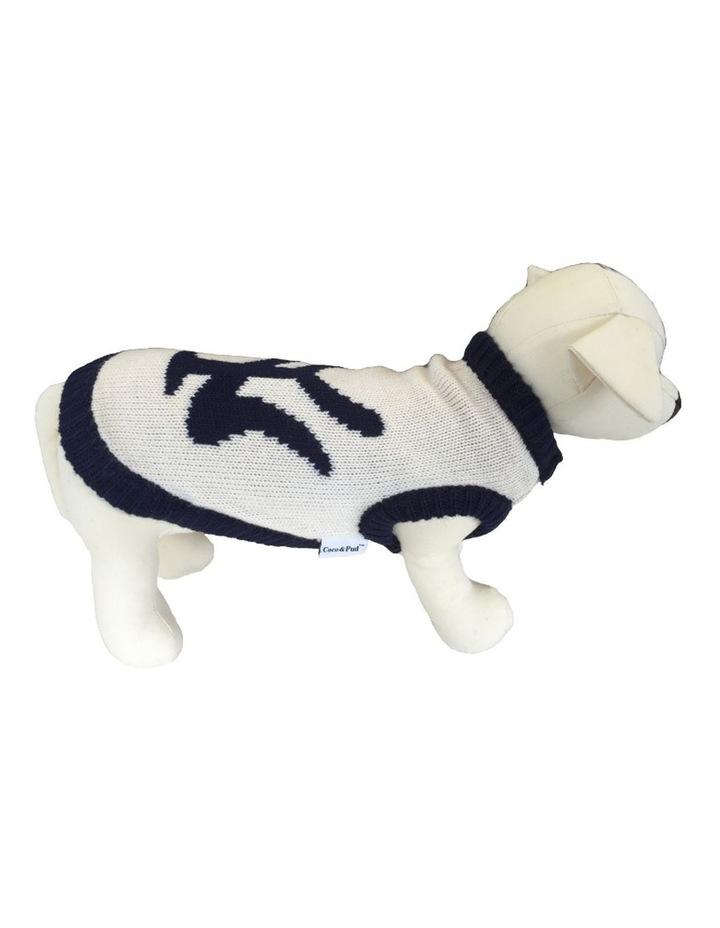 New York Dog Sweater - Cream/ Navy XS image 1