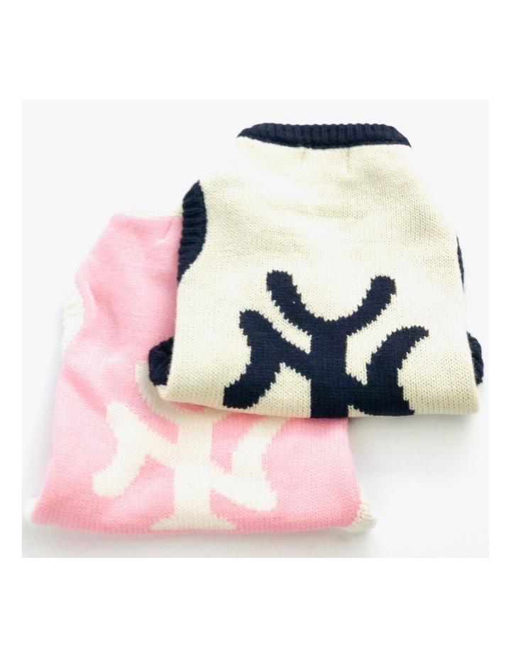 New York Dog Sweater - Cream/ Navy XS image 5