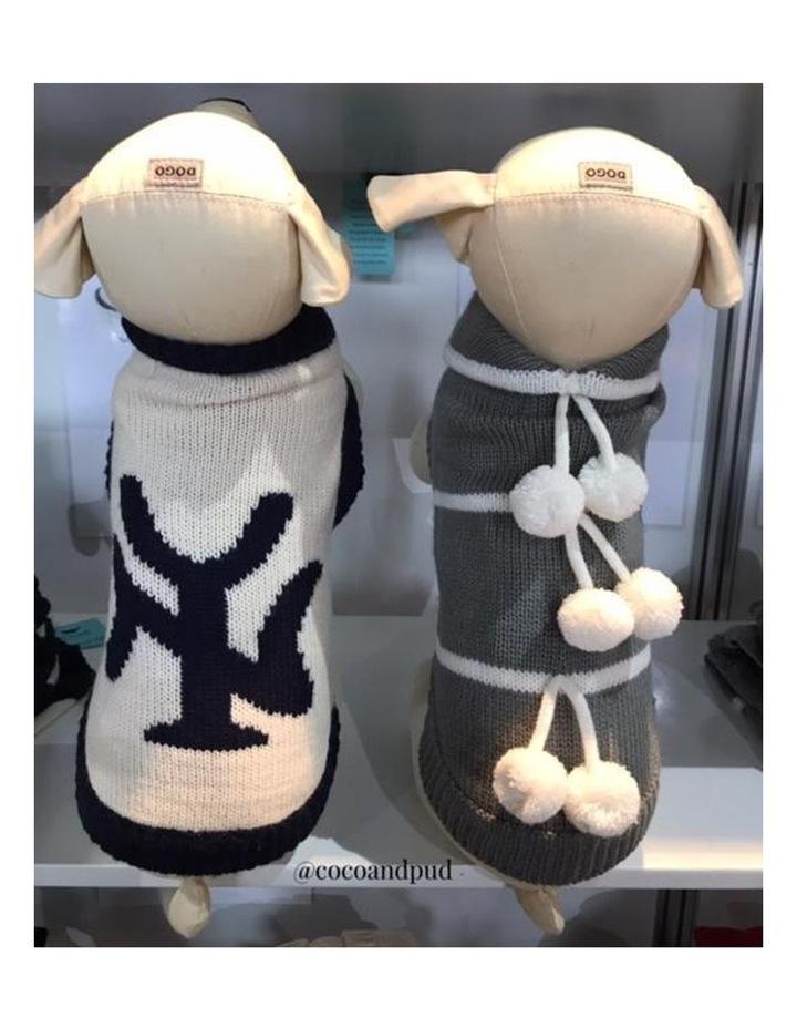 New York Dog Sweater - Cream/ Navy XS image 7