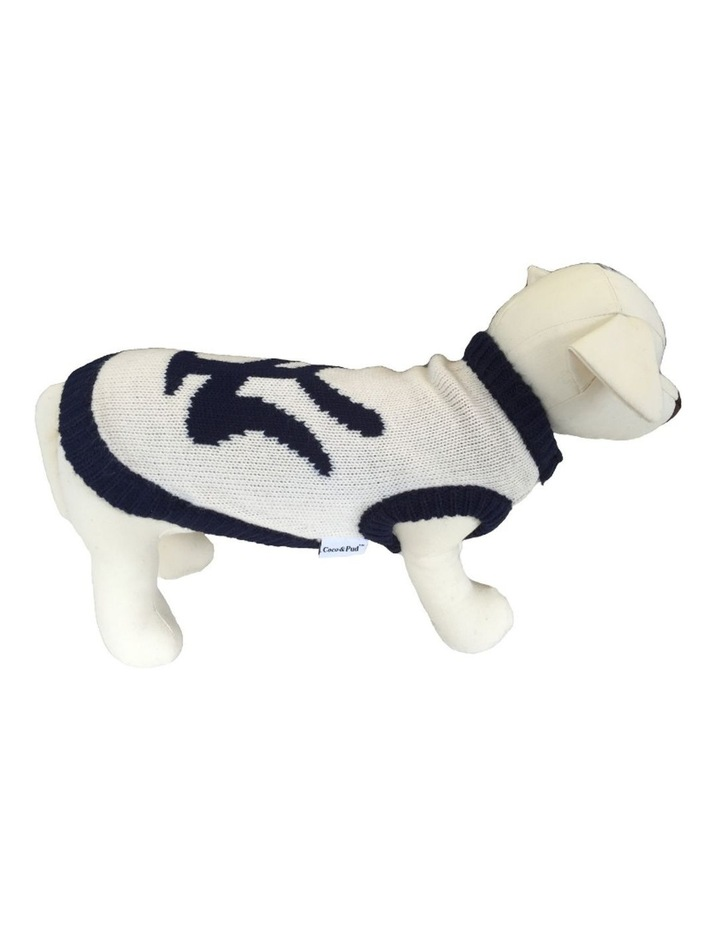 New York Dog Sweater - Cream/ Navy SMALL image 1