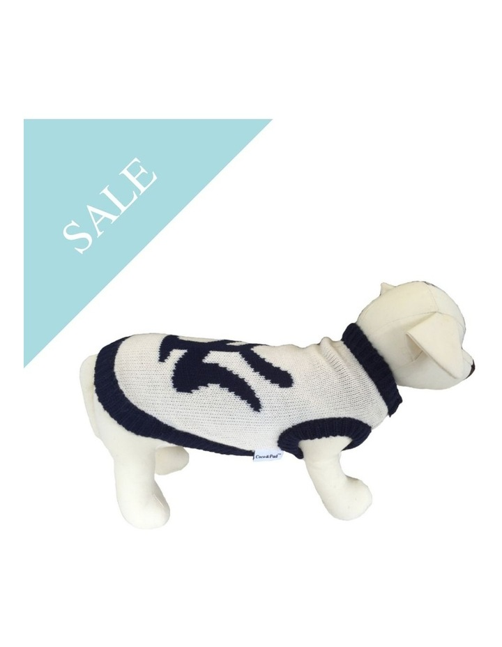 New York Dog Sweater - Cream/ Navy SMALL image 2